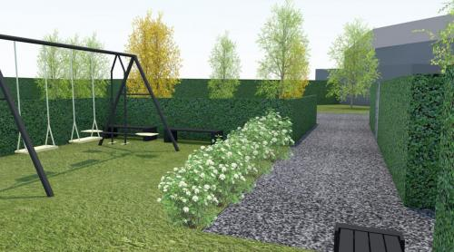 Hazelaarstraat Eeklo groenzone
